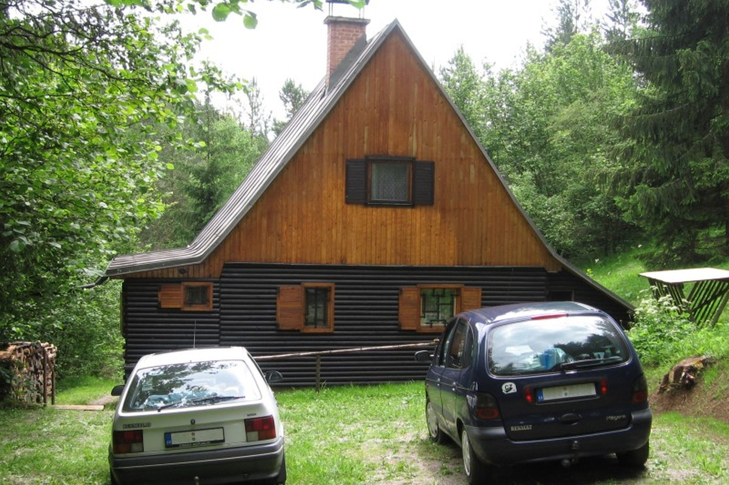 Chata 526 - parkování / Cottage 526 - parking
