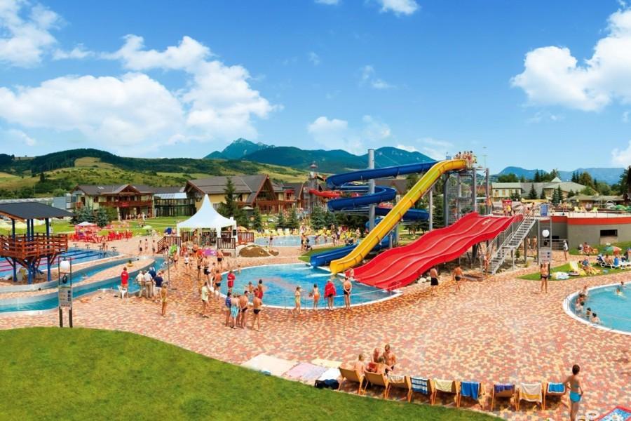 Bešeňová - bazény 28-40°, tobogány, vlny, raft, wellness / aquapark (25 km)