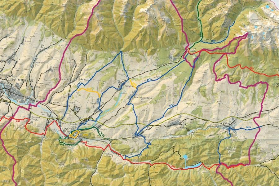 Blízké okolí - trasy horního Liptova / nearby cycling routes (0-25 km)
