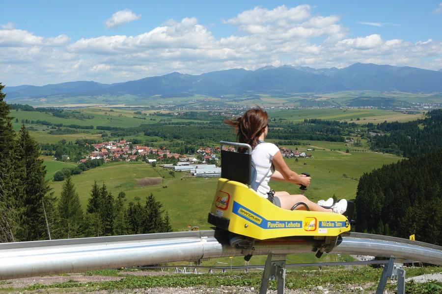 Funpark Žiarce - bobová dráha / bobsleigh track (23 km)