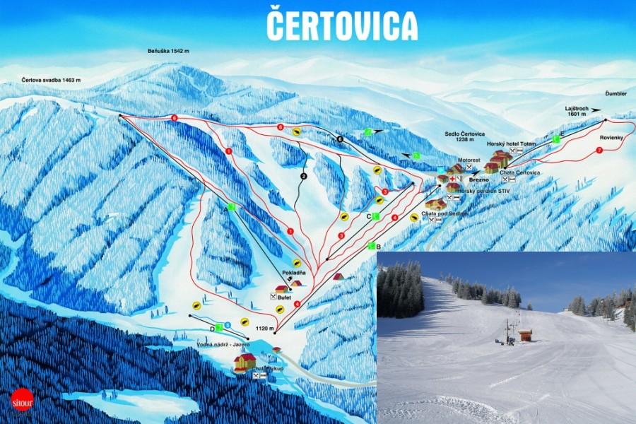 Středisko Čertovica / Ski resort Čertovica (18 km)