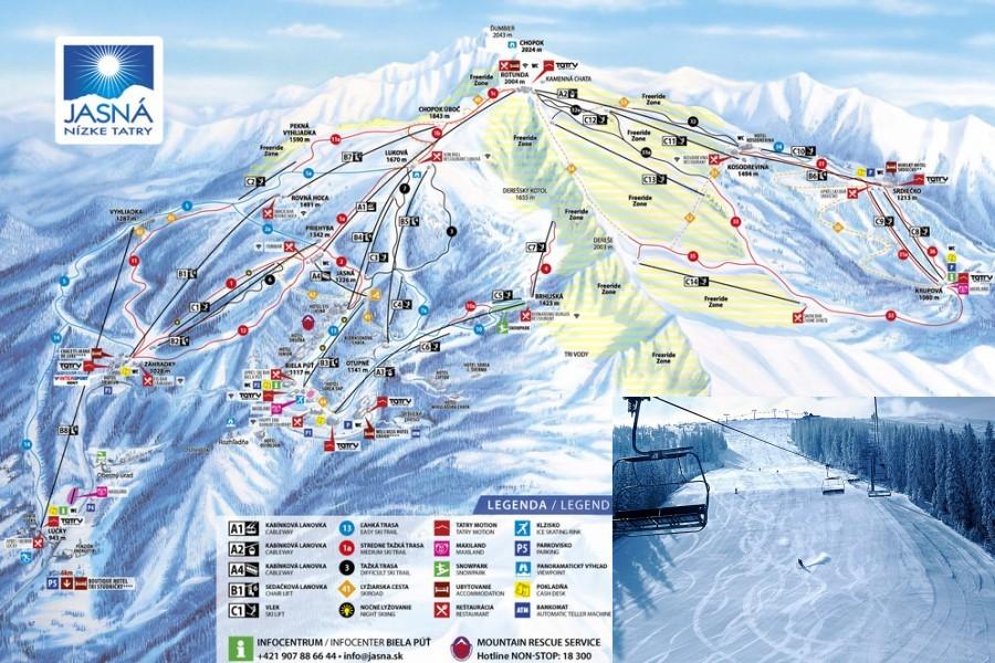 Středisko Chopok / Ski resort Chopok (25 km)