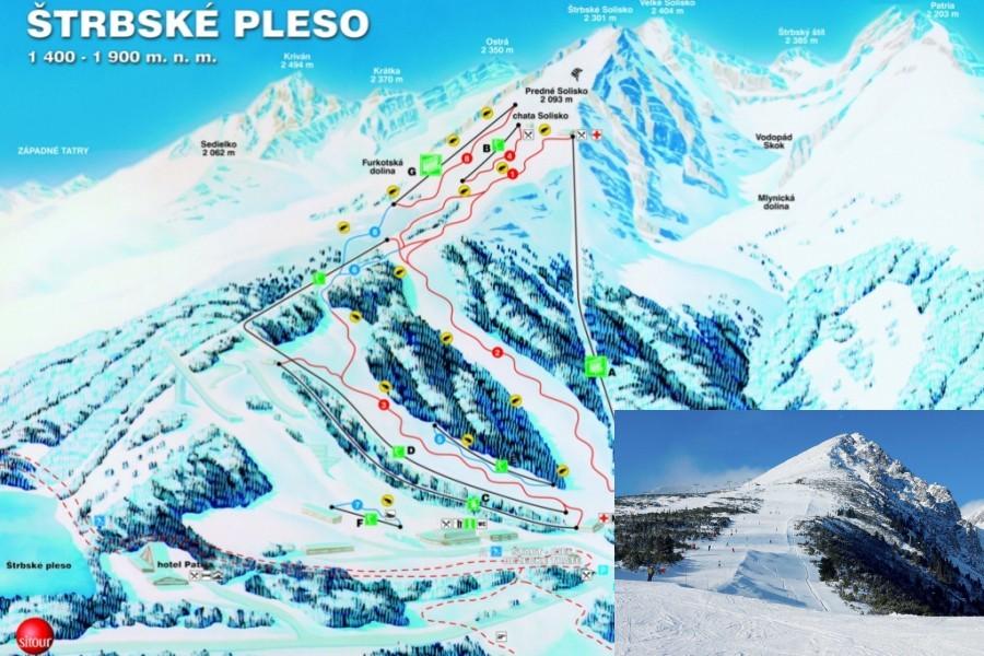 Středisko Štrbské pleso / Ski resort Štrbské pleso (32 km)